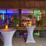Kunsthallen-Hinterhof mit Beleuchtung