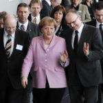Merkel zu Besuch auf der Hansemesse in Rostock.