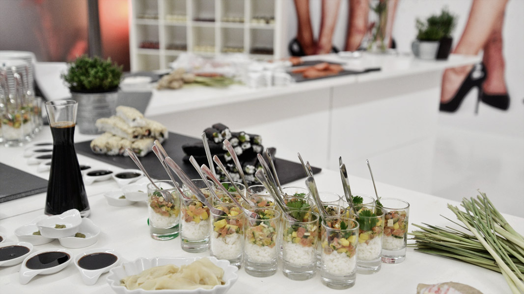 w.Holz Sushi-Catering in der Kunsthalle